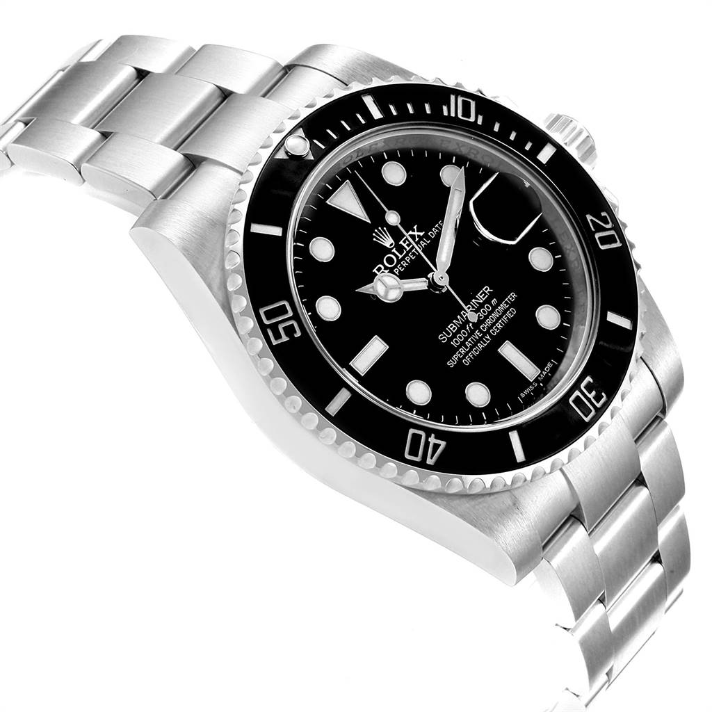 24731 Rolex Submariner 40 Cerachrom Bezel Black Dial Watch 116610 Box Card SwissWatchExpo
