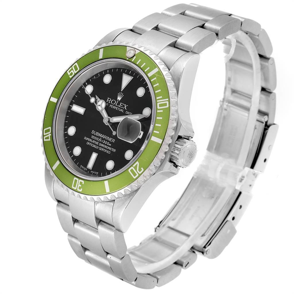 Rolex Submariner Green 50th Anniversary Flat 4 Mens Watch 16610LV SwissWatchExpo