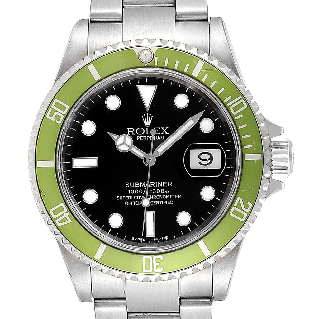 Rolex Submariner Green 50th Anniversary Flat 4 Mens Watch 16610LV