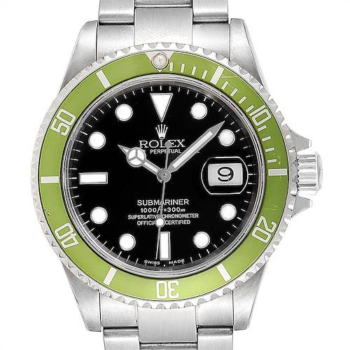Photo of Rolex Submariner Green 50th Anniversary Flat 4 Mens Watch 16610LV