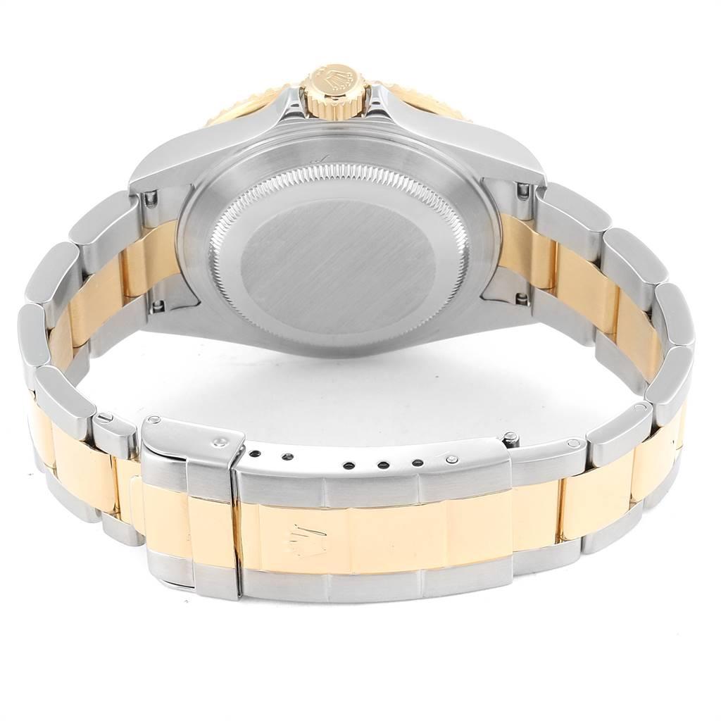 24809 Rolex Submariner Blue Dial Bezel Steel Yellow Gold Mens Watch 16613 SwissWatchExpo
