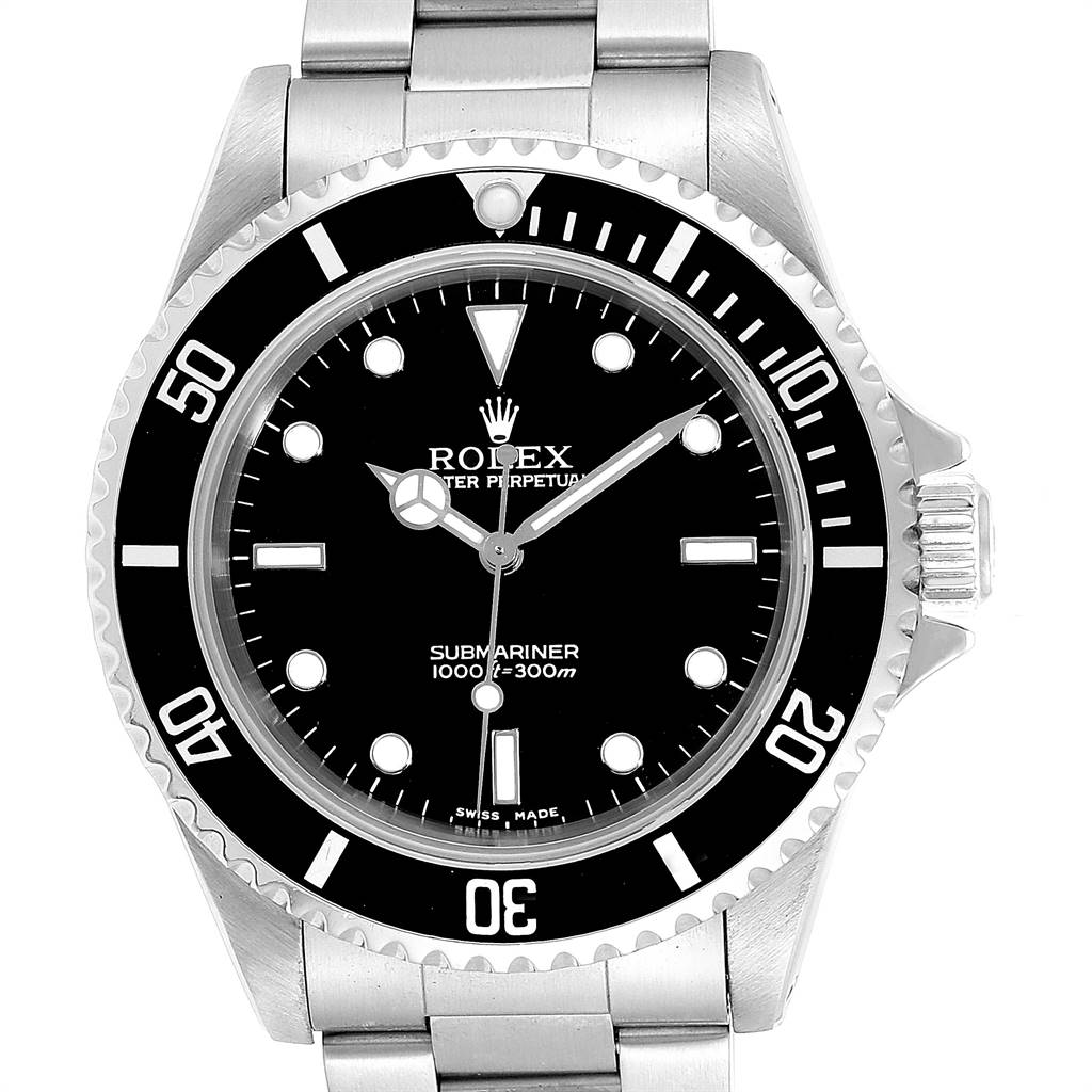 24928 Rolex Submariner Non-Date 2 Liner Steel Mens Watch 14060 Box Papers SwissWatchExpo