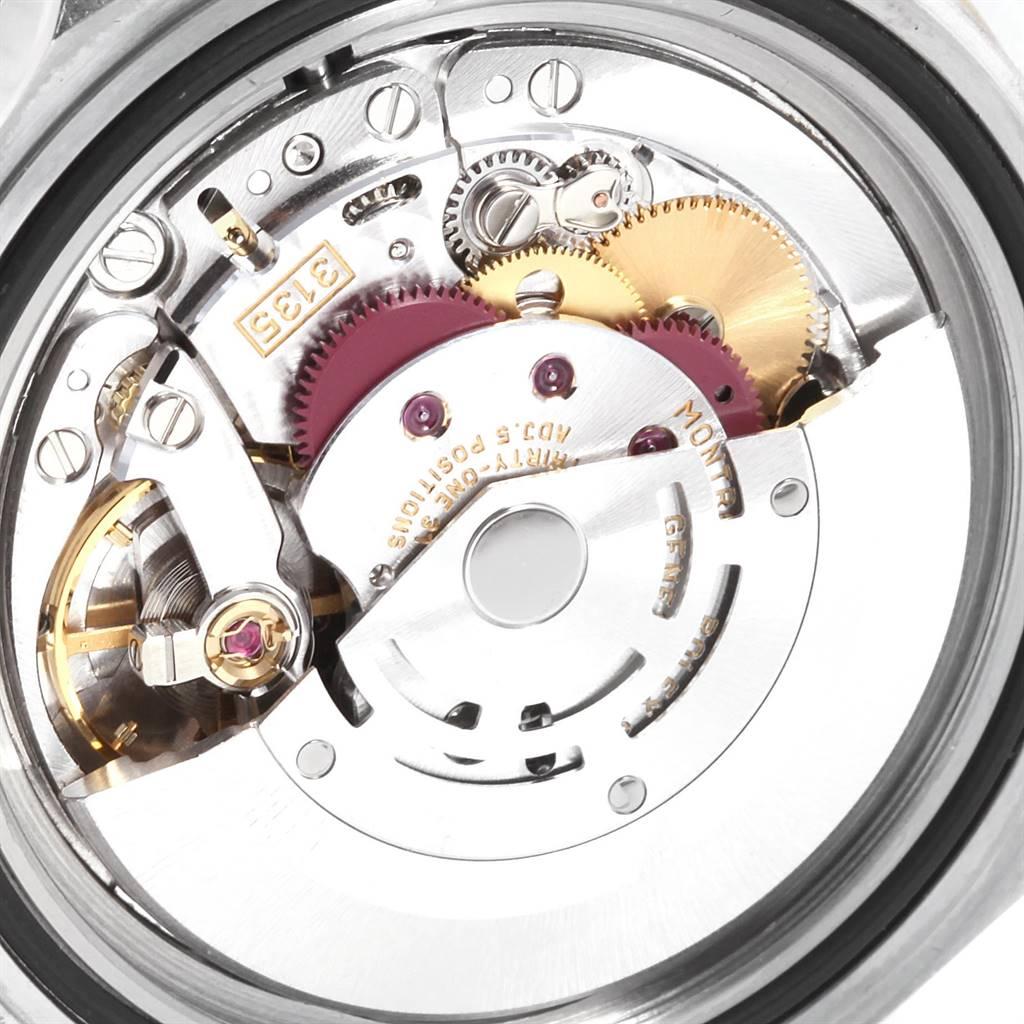 Rolex Submariner Purple Blue Dial Steel Yellow Gold Mens Watch 16613 SwissWatchExpo