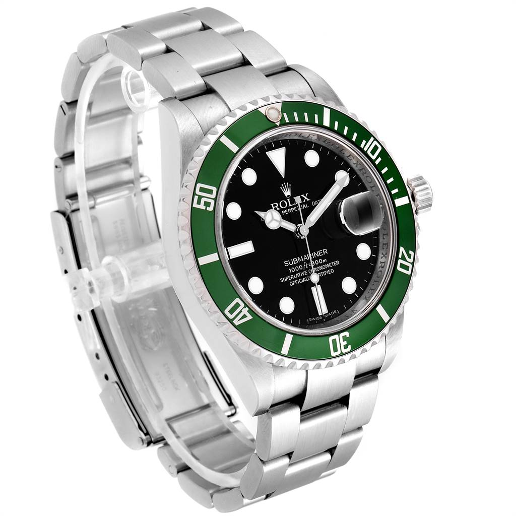Rolex Submariner 50th Anniversary Green Kermit Mens Watch 16610LV SwissWatchExpo
