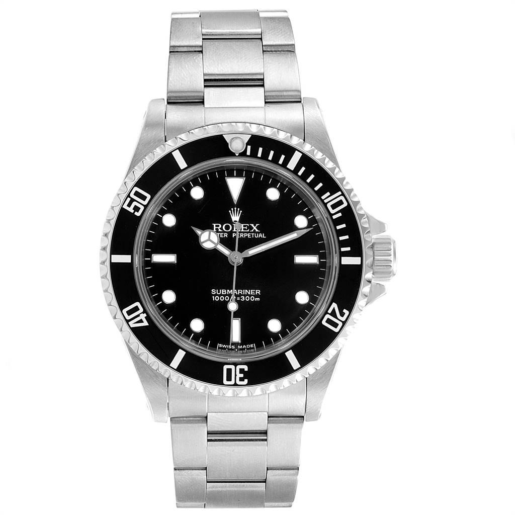 Rolex Submariner 40mm Non-Date 2 Liner Steel Steel Mens Watch 14060 SwissWatchExpo