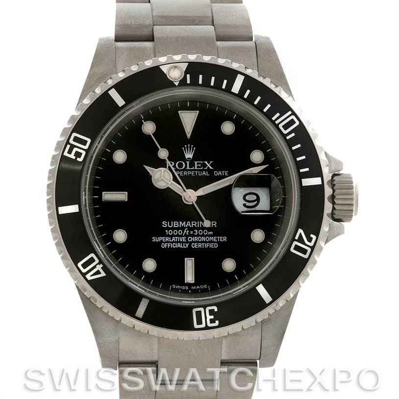 2647 Rolex  Submariner Mens SS Watch 16610 Year 2006 SwissWatchExpo