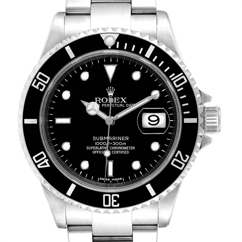 25299 Rolex Submariner Date 40 Stainless Steel Automatic Mens Watch 16610  SwissWatchExpo