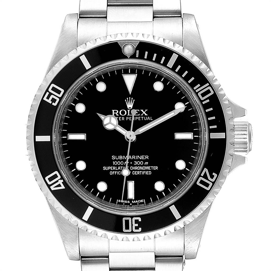 Rolex Submariner 40mm Non-Date 4 Liner Steel Steel Mens Watch 14060M