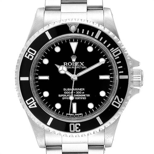 Photo of Rolex Submariner 40mm Non-Date 4 Liner Steel Mens Watch 14060M