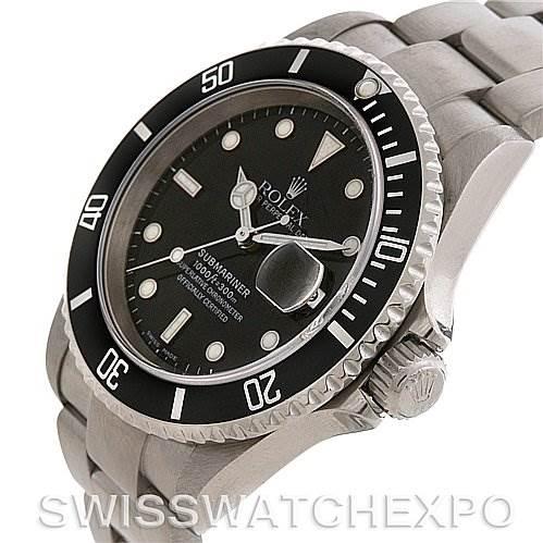 2671 Rolex  SUBMARINER MENS SS WATCH 16610 YEAR 2005 SwissWatchExpo