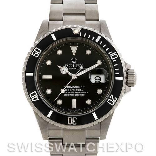 Photo of Rolex  SUBMARINER MENS SS WATCH 16610 YEAR 2005
