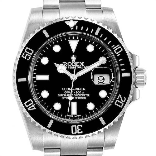 Photo of Rolex Submariner 40 Cerachrom Bezel Black Dial Watch 116610 PARTIAL PAYMENT