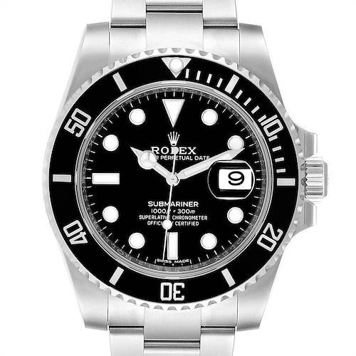 Photo of Rolex Submariner 40 Cerachrom Bezel Black Dial Watch 116610 Unworn