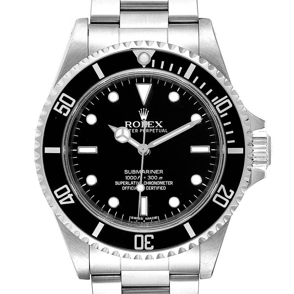 Rolex Submariner Non-Date Steel Mens Watch 14060 Box Card