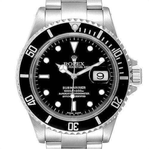 Photo of Rolex Submariner 40mm Black Dial Steel Mens Watch 16610 Box