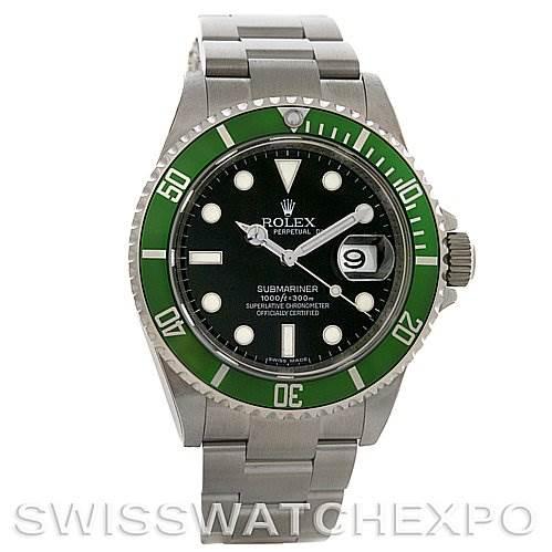 ROLEX UNWORN GREEN ROLEX SUBMARINER 16610LV YEAR 2009 SwissWatchExpo
