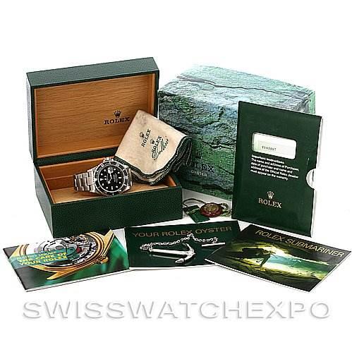 ROLEX  SUBMARINER WATCH 16610 YEAR 2002 w BOX PAPERS SwissWatchExpo