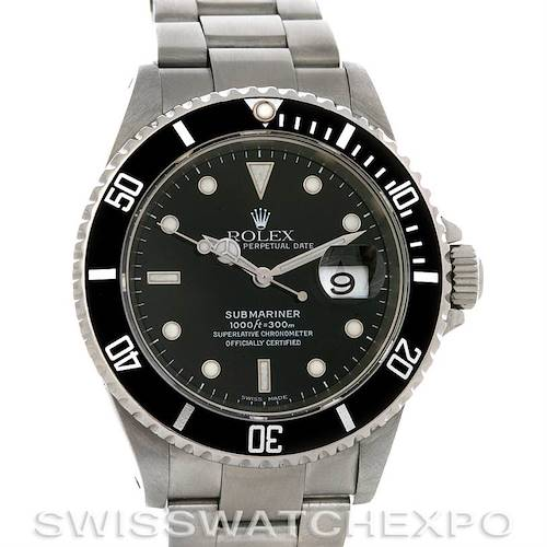 Photo of ROLEX  SUBMARINER WATCH 16610 YEAR 2002 w BOX PAPERS