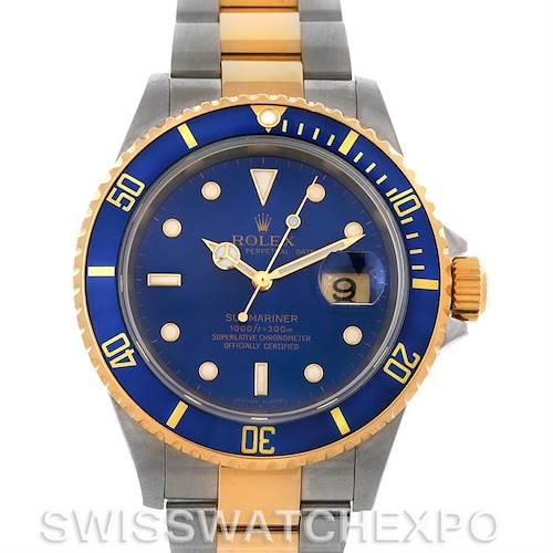 Photo of Rolex  Submariner 16613 SS/18k Yellow Gold 16613 yr 2007