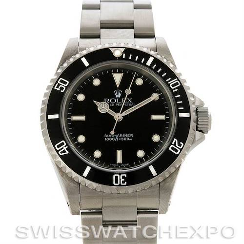 Photo of ROLEX  SUBMARINER MENS SS NON-DATE WATCH 14060M yr 2005