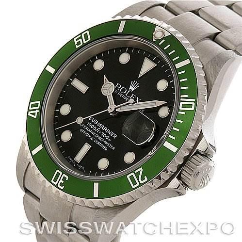 ROLEX  GREEN SUBMARINER 16610T YEAR 2006 with BOX SwissWatchExpo