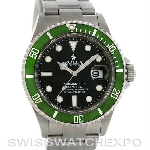 Photo of ROLEX  GREEN SUBMARINER 16610T YEAR 2006 with BOX