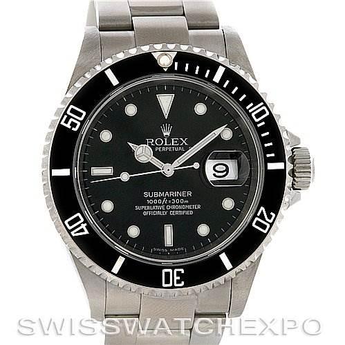 2867 Rolex Submariner Watch 16610 Year 2007   SwissWatchExpo