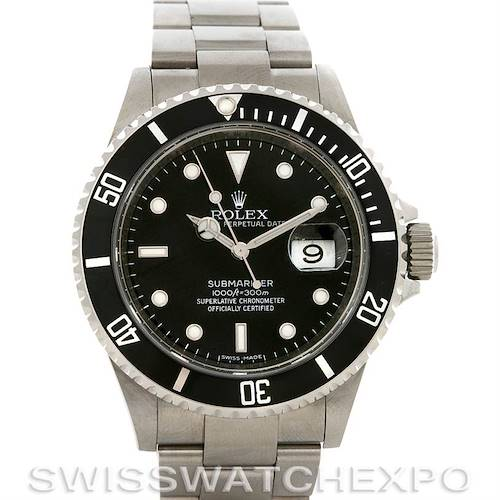 Photo of ROLEX PREOWNED  SUBMARINER STEEL WATCH 16610 YEAR 2007