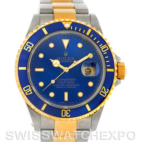 Photo of Rolex Submariner 16613 Steel and Yellow Gold 16613