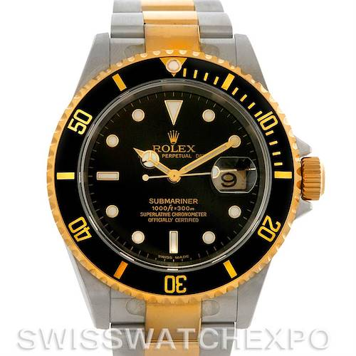 Photo of Rolex Submariner Steel and Yellow Gold 16613T