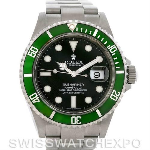 Photo of Rolex Green Submariner Steel Watch 16610T Year 2007 -08