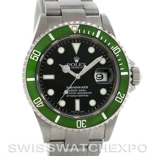 Photo of Rolex Green Submariner Steel Watch 16610T Year 2007