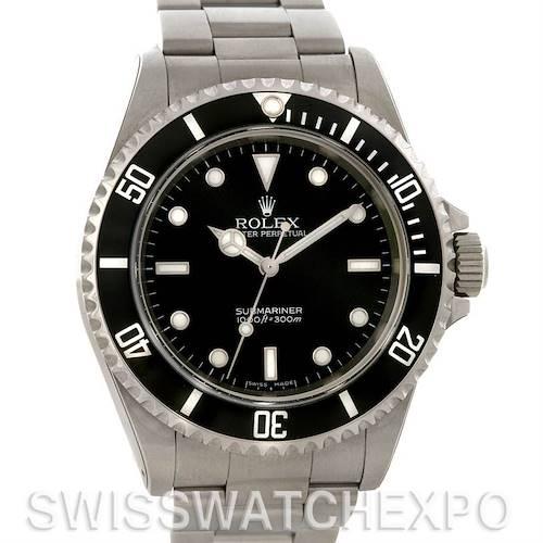 Photo of Rolex Submariner Mens Steel Non Date Watch 14060M Unworn