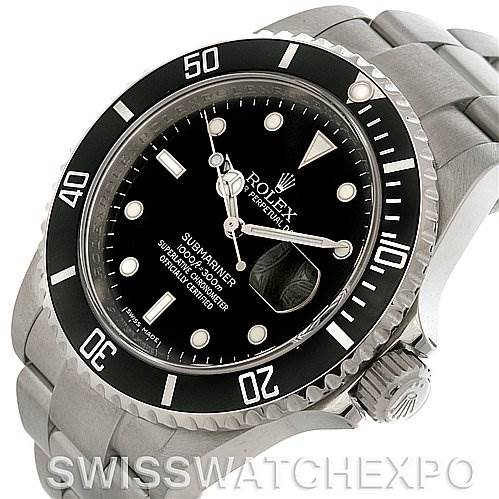 4044 Rolex Submariner Date Steel Watch 16610 Year 2008 SwissWatchExpo