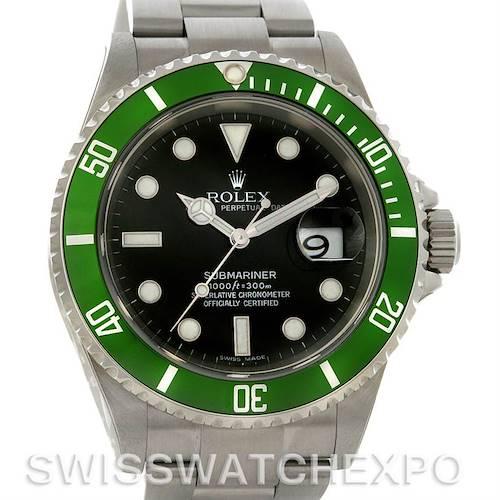 Photo of Rolex Green Submariner Steel 16610LV Year 2006