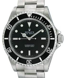 836WR  Rolex Ss Non Date Submariner Watch 14060m  SwissWatchExpo