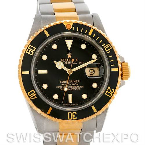Photo of Rolex Submariner Steel and Yellow Gold 16613 Sport Watch