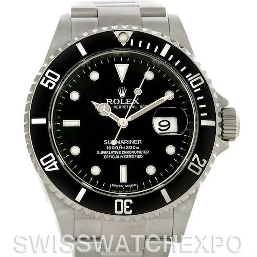 Photo of Rolex Submariner Date Stainless Steel Watch 16610