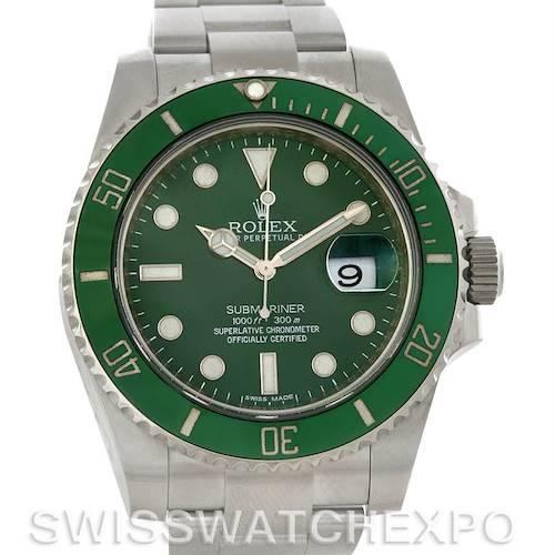 Photo of Rolex Submariner Green Dial Ceramic Bezel Steel Watch 116610LV