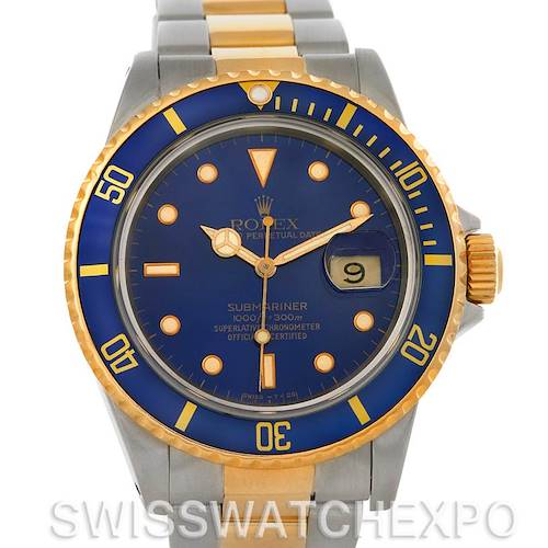 Photo of Rolex Submariner Steel and 18K Yellow Gold Blue Dial Watch 16803