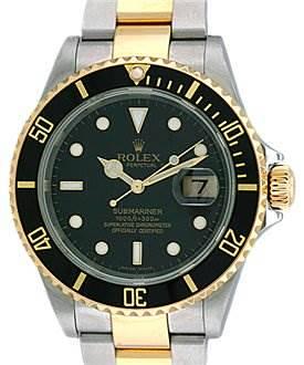 Photo of Rolex Mens Ss & 18k Yellow Gold Submariner 16613