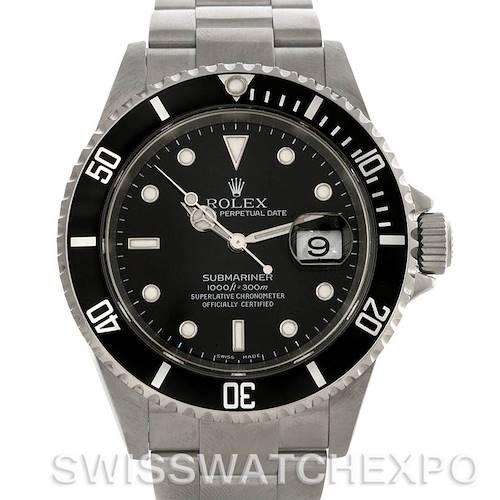Photo of Rolex Submariner Men's Steel Date Watch 16610
