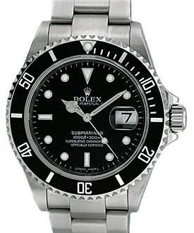 """Photo of Rolex Mens Ss Submariner Watch 16610 """"m"""" Serial"""