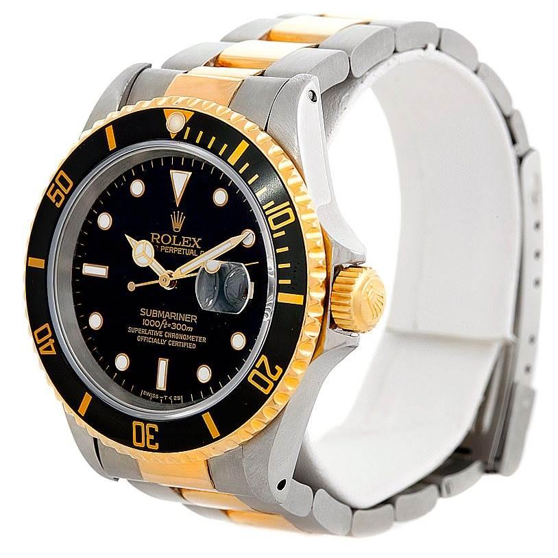 6330 Rolex Submariner Steel and Yellow Gold Watch 16613 SwissWatchExpo
