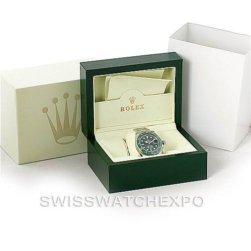 7981 Rolex Submariner Green Dial Ceramic Bezel Steel Watch 116610LV SwissWatchExpo