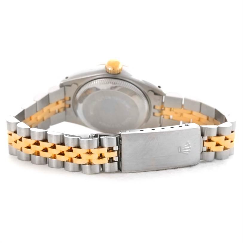 Rolex Datejust Womens Steel 18k Yellow Gold Watch 69173 SwissWatchExpo