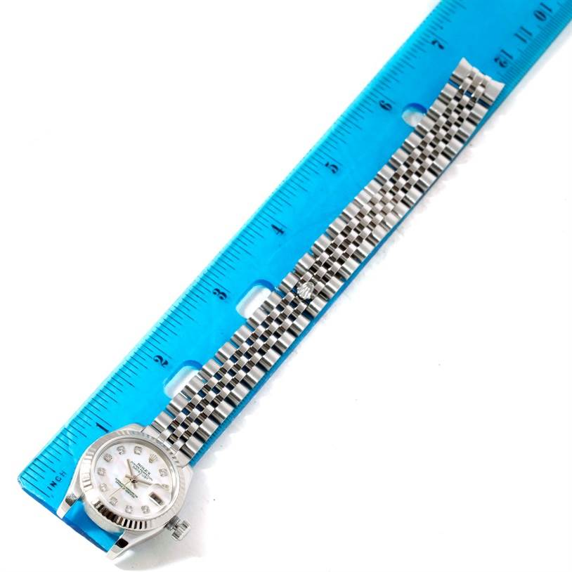 10609 Rolex Datejust Ladies Steel 18K White Gold Diamond Watch 179174 SwissWatchExpo