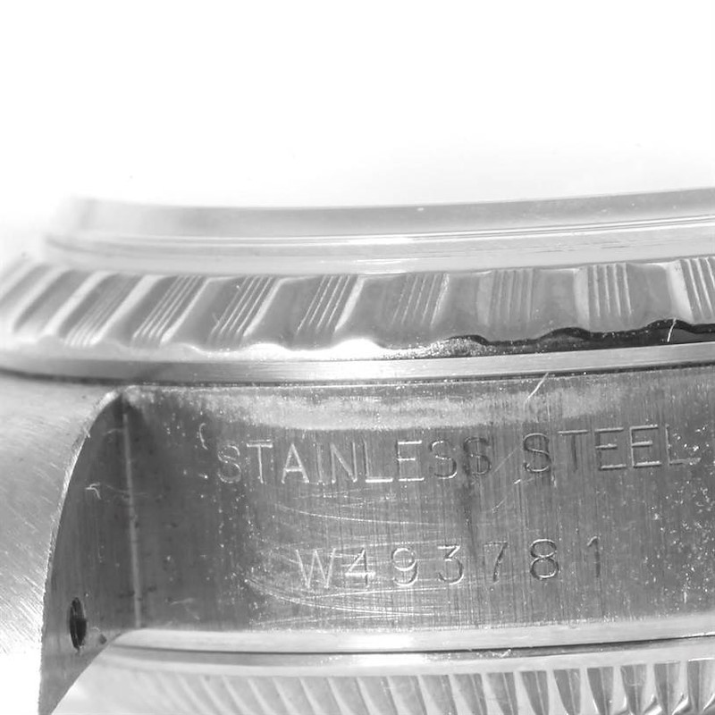 Rolex Date Ladies Stainless Steel Gray Dial Watch 69240 Box Papers SwissWatchExpo
