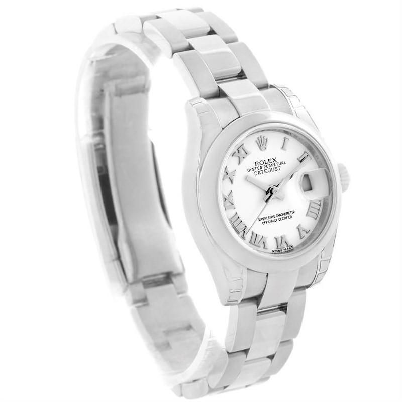 Rolex Datejust White Roman Dial Womens Watch 179160 Unworn SwissWatchExpo