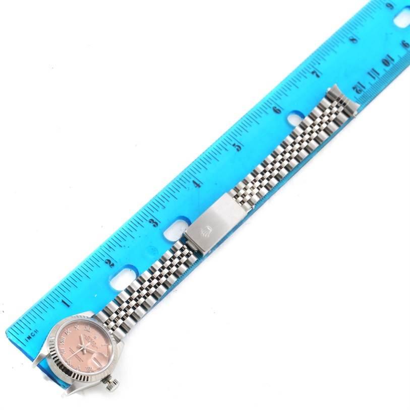 11373 Rolex Datejust Ladies Steel White Gold Salmon Roman Dial Watch 69174 SwissWatchExpo
